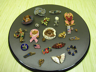 Costume Jewelry Brooch Pin Lot As Is Boyd's Bear Sparkle Navy American Legion