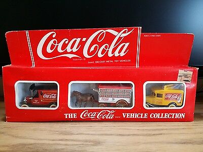Vintage Lledo Coca Cola Diecast Vehicle Collection Set of 3