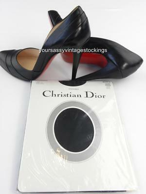 SASSY 2 Pr CHRISTIAN DIOR BLACK ORCHID DEMI-TOE Vintage Nylon Stockings  10/32""