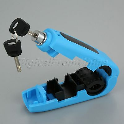 Handlebar Lock Hand Grip Brake Lever Security Caps-Lock Anit-theft Safety Blue