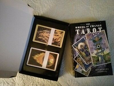 HTF Wheel of Change Tarot Deck and Book CARDS NEVER OUT OF BOX! Original 1997