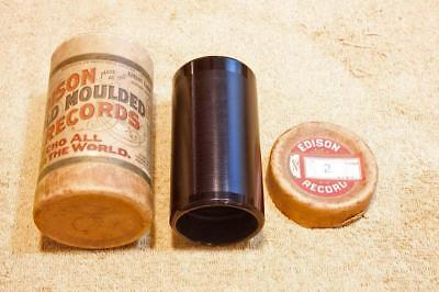 """Edison 2 Minute Wax Cylinder Record """"When Its Moonlight On The Prairie"""" Harlan"""