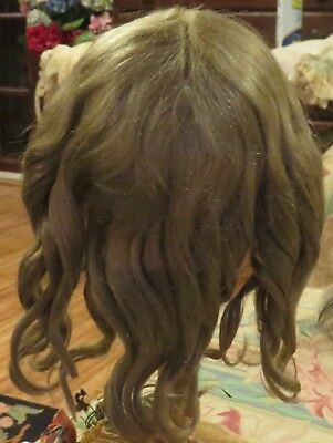 """w161 Vintage 11"""" Wendy Feidt Mohair Wig for Antique French or German Bisque Doll"""