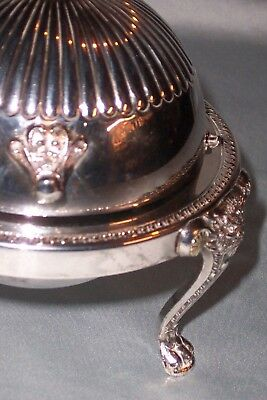 Vintage Silver Plate Butter Dome Dish F B Rogers Silver Co 273 - 1883