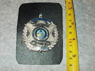 obsolete year 2000 corrections  police badge