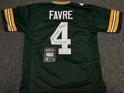 Brett Favre Autograph signed Green Bay Packers jersey double inscribed  w/Coa