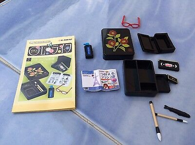 Rare Re-ment Dollhouse Miniatures Ancient Stationary, Book, Ink, Glasses,VDO SET