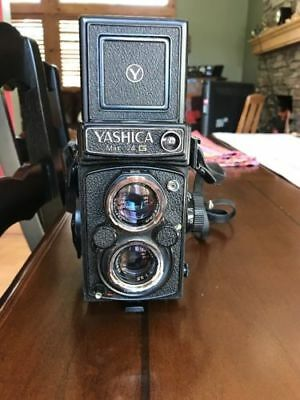 Yashica Mat 124 G TLR Camera + 120 Film, filter, hood, case and strap
