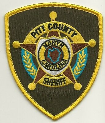 PITT County Sheriff State of North Carolina NC Shoulder Patch