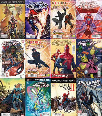 MARVEL INSANE BUNDLE LOT SALE 85% OFF! 12X ALL SPIDER-MAN COMICS civil war 2