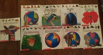 Lot of 9 Scholastic A First Discovery Books Transparent Pages boats countrys