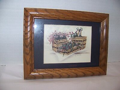 Pat Richter 5 x 7 Framed Longaberger Basket Print