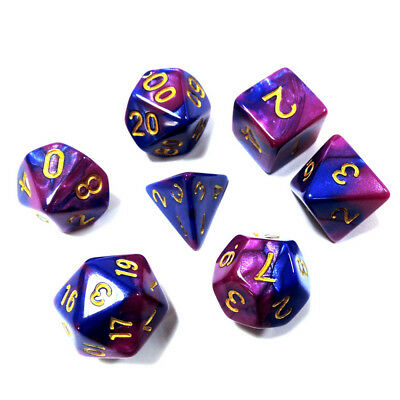 7PCS/Set  Dungeons & Dragons MTG Polyhedral Game Dice Two-Color DND RPG  D4-D20