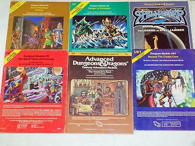 Lot Advanced Dungeons & Dragons Modules A2 C2 L2 U2 UK1 Art Cards Monsters AD&D