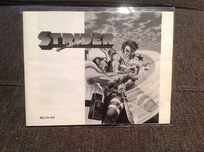Strider Nes Manual Only