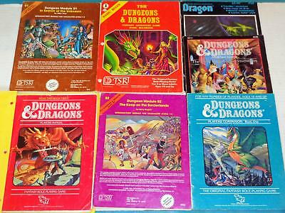 Lot Early Dungeons & Dragons Players Manual Rulebook Companion Modules Invention