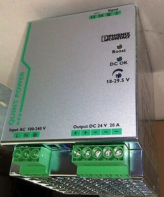 Phoenix Contact 2866776 24 VDC 20 Amp Power Supply QUINT-PS/1AC/24DC/20 NIB NEW