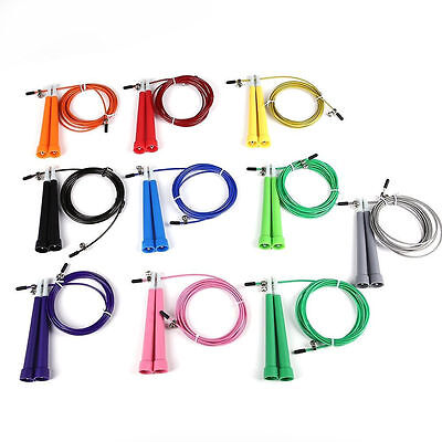 Steel Wire Speed Skipping Jump Rope Adjustable Fitnesss Exercise Rendom Color