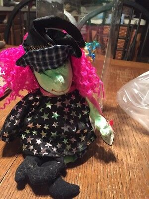 "SCARY the Witch 10"" Halloween Ty Beanie Babies NEW w/tag  2000 Plush Toy"