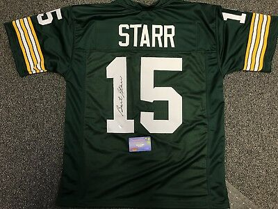 Bart Starr Autograph signed Packers green jersey w/MM COA