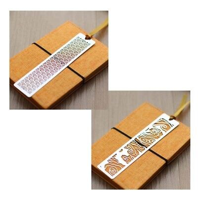 Chinese Oriental Design Stainless Steel Hollow Reading Bookmark