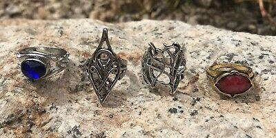 Elf Lord of the Rings Hobbit Lot of 4 different Rings Combo LOTR Gandalf
