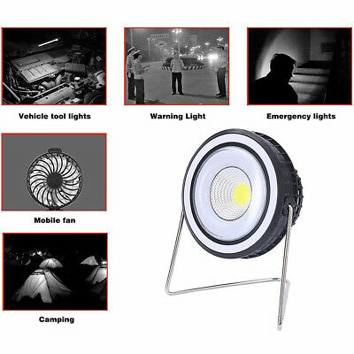 Portable Outdoor Solar Tent Camping Flashlight Emergency Light with Fan Hiking