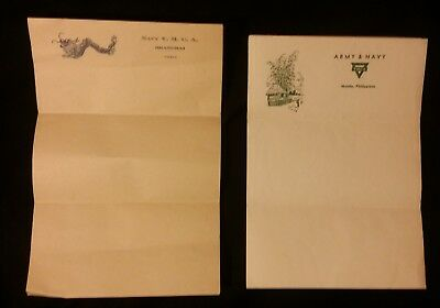 1930s WWII Era X7 Blank Sheets YMCA Navy'Shanghai, China Manila, Philippines