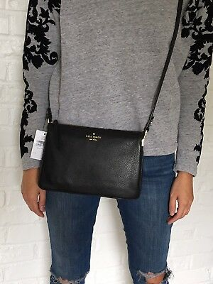NWT Kate Spade  Mulberry Street Madelyne Leather Crossbody Bag Black $229
