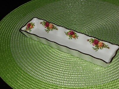 Royal Albert Old Country Roses Mint Tray approx: 21 cm long undermarked mint