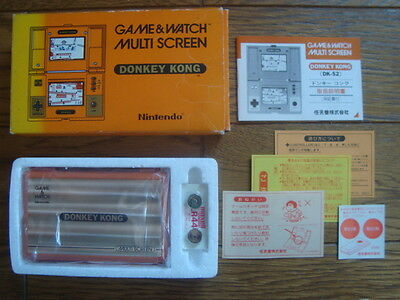 NINTENDO GAME AND & WATCH DONKEY KONG NEW OLD STOCK w/ BOX MANUAL 1982 JAPAN