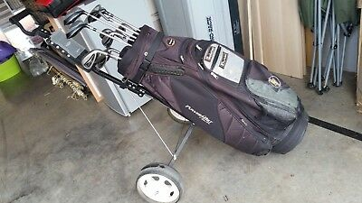 Slazenger Golf Clubs x 12, Bag and Trolley