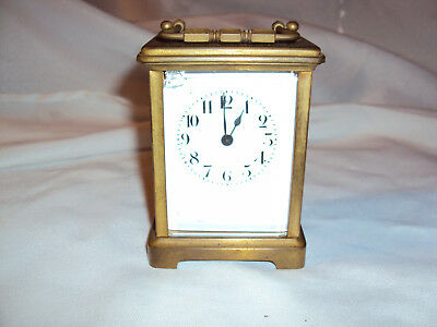 Antique French Brass Glass Carriage shelf clock parts repair