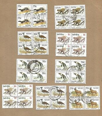 SA + Venda: 9 Blocks of 4 used (36 stamp)  2 FDC (one has M/S on it)..(Ref 873)