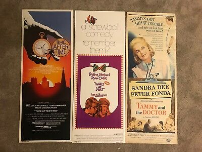 Lot of 3 original vintage 14x36 insert movie posters! 1940s - 1980s!