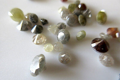 38pc Brilliant Cut Polished Round Diamond Faceted Loose Natural Solitaire Dds44