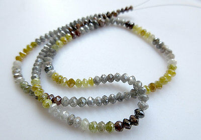 """16"""" 4mm Faceted Beads Rough Diamond Beads Natural Beads Raw Gray Red White VL7"""