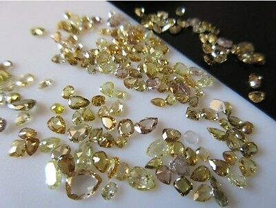 50 Pieces 2mm To 4mm Clear Brown Cognac Rose Cut Diamond Loose - DDS410/3