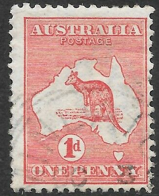 ROO'S   1d  RED    1st WATERMARK     DIE 2A    FLAW SOUTH of W.A.