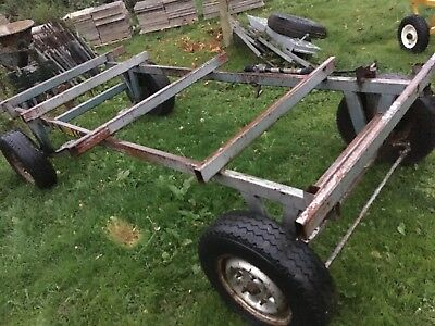 4 Wheel Army Bomb Trailer Cart Trolley Luggage Dolly Straw Cart Base