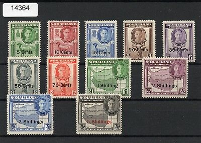 Somaliland Protectorate MNH KGV1 1951 Decimal Issue SG125-135 Cat Value 55.00 Pd