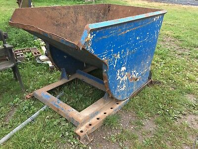 Metal Skip Bin For Forklift Tractor Waste Site Tipping