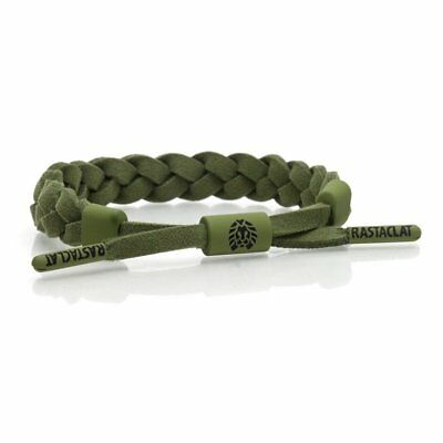 RASTACLAT Sage Classic Olive Green Suede Wristband Bracelet Shoelace Jewelry NEW