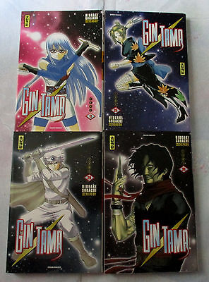 Lot de manga Gintama 4 volumes shonen