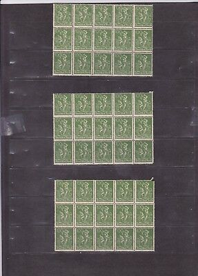 1105 Germany Deutsches Reich Stamps MNH Green 100 Pfg Sheetlet 3x15 1921 WM HCV
