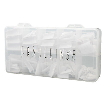 Fraulein38 Ongles Faux 500 Tip Blanc Capsule French Manucure Uv Gel