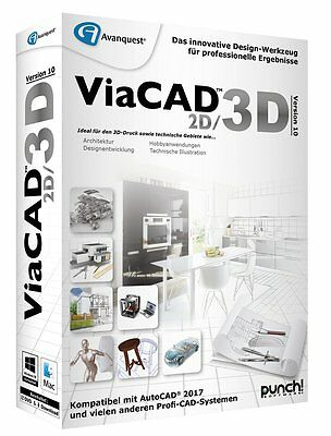 ViaCAD 2D / 3D Version 10 ESD/Download   WIN / MAC  PUNCH! DE EAN 4023126118905