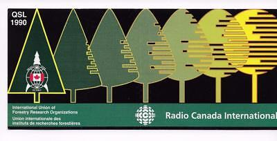 QSL Radio Canada International RCI Montreal 1990 Forestry Research Unused DX SWL