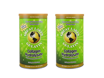 2x Great Lakes Gelatin Collagen Hydrolysate Joint Care Beef 454 Grams