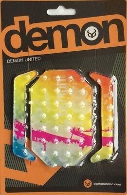 Demon Machine Multi Colour Snowboard Stomp Pad NEW Board Traction Clear Grip